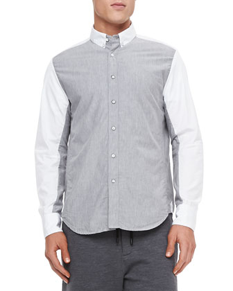 Vale Colorblock Sport Shirt, Dark Gray