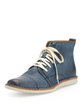 Barrett Wide Lace Boot, Blue