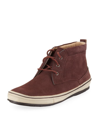 Redding Stamped Suede Chukka, Burgundy