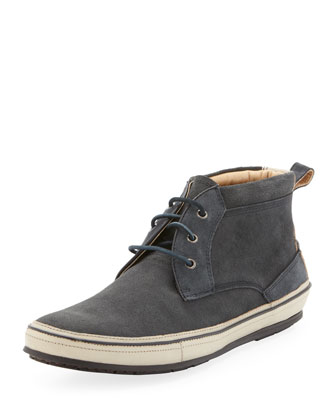 Redding Stamped Suede Chukka, Gray