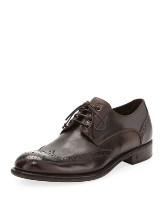 Dress Artisan Wing-Tip, Brown