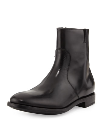 Soffio Leather Boot, Black