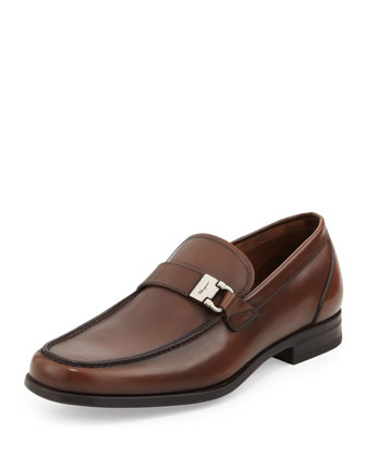 Tazio Gancini-Buckle Loafer, Tan