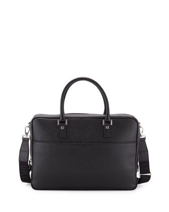 Revival Single-Gusset Briefcase, Black