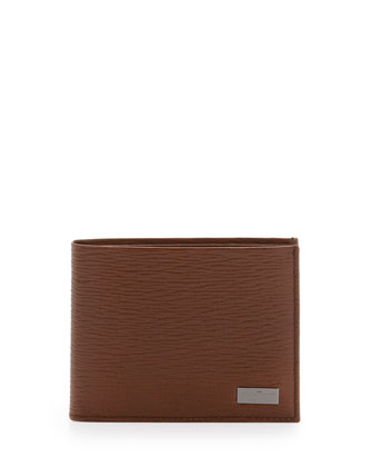 Revival Bi-Fold Leather Wallet, Tan