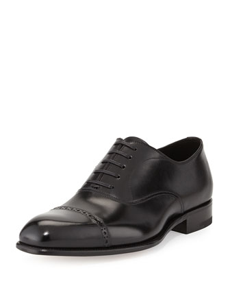 Charles Cap-Toe Oxford, Black