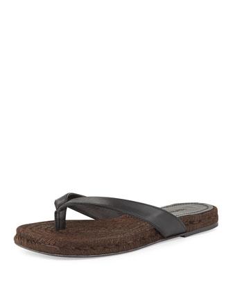 Barnes Espadrille Thong Sandal, Black