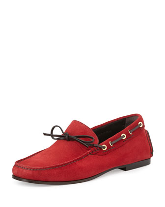 Crawford Suede Driving Loafer, Red