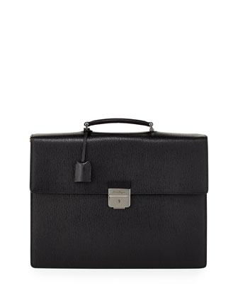Revival Gusset Briefcase, Black