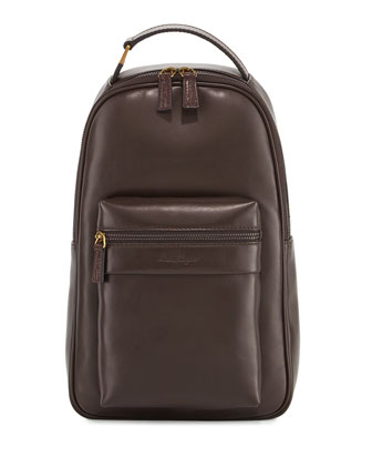 New Boston Leather Backpack, Brown
