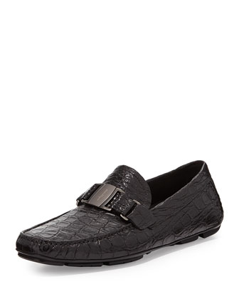 Sardegna 2 Buckled Crocodile Loafer