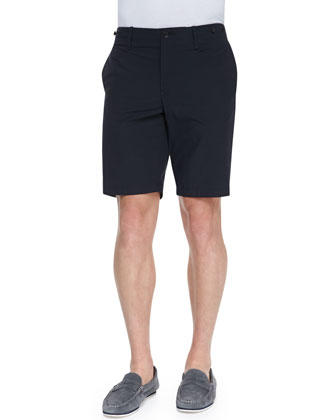 Cotton-Blend Beach Shorts, Navy