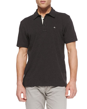 Moulinex Chest-Pocket Polo, Gray