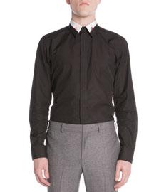 Colorblock-Collar Shirt