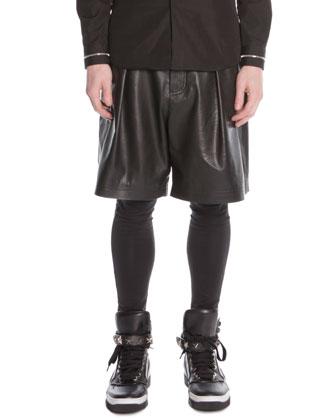 Cotton-Jersey Leggings, Black