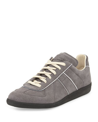 Replica Piped Suede Sneaker, Graphite