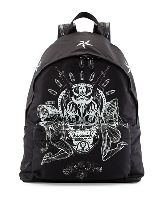 Elmerinda Printed Nylon Backpack