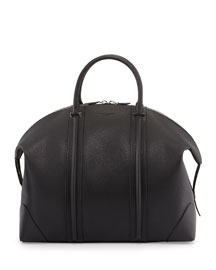 Men's 24-Hour Leather Satchel Bag, Black