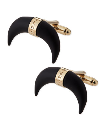 Black Horn Cuff Links