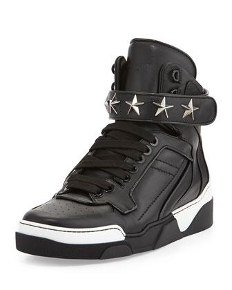 Tyson Star High-Top Sneaker, Black