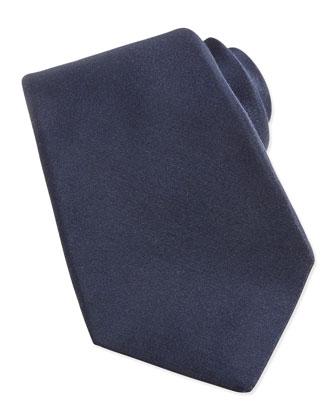 Cashmere/Silk Woven Tie, Blue