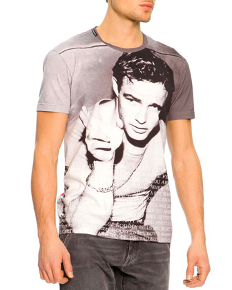 Marlon Brando Icon Tee, Gray