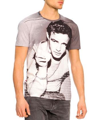 Marlon Brando Icon Tee, Gray