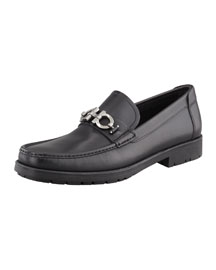 Master Gancini Loafer, Black