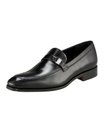 Destin Leather Loafer, Black