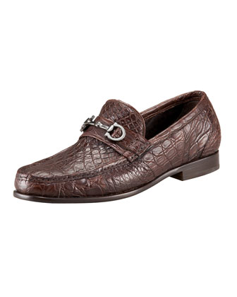 Giostra 3 Crocodile Bit Loafer, Brown