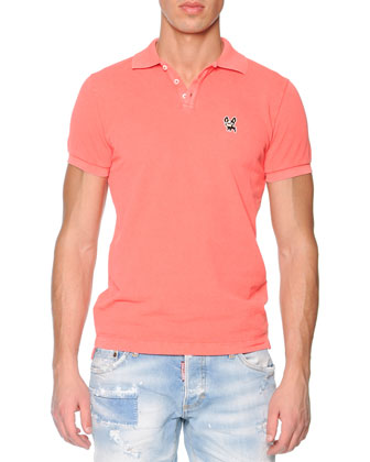 Bulldog Short-Sleeve Polo, Coral