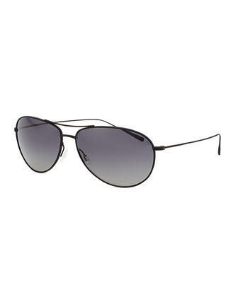 Tavener 61 Polarized Aviator Sunglasses, Black