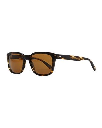 Wyler 54 Oversized Sunglasses, Dark Tortoiseshell