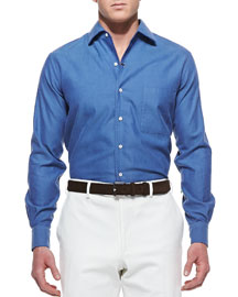 Andre Ginestra Button-Down Shirt, Blue