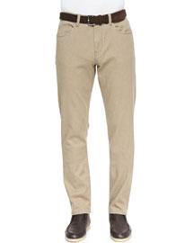 Brisbane Delave 5-Pocket Pants, Beige
