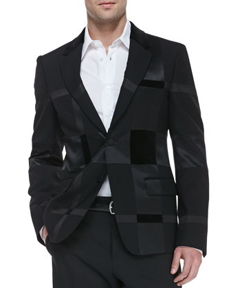 Patchwork Two-Button Jacket