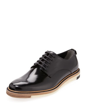 Runway Hunting Lace-Up Shoe, Black