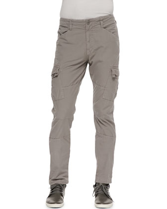 Trooper Cargo Twill Pants, Mineral Gray