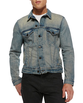 Lowell Stretch-Denim Jacket, Rhodes