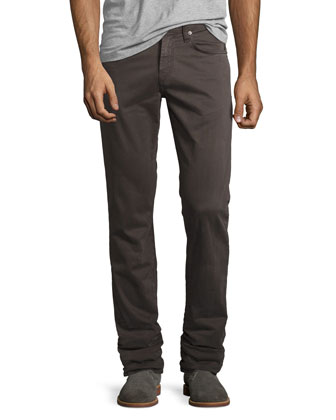 Kane Industrial Relaxed-Fit Jeans, Gray