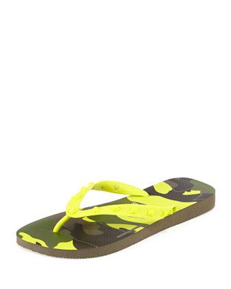by Havaianas Rockstud Camo-Print Flip Flop, Yellow