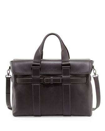 Principe Leather Briefcase, Black