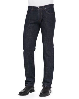 Dark-Wash Five-Pocket Jeans