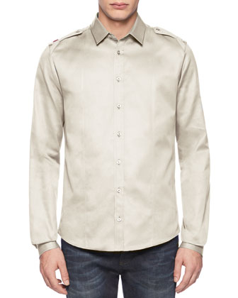 Twill Duke Shirt, Tan