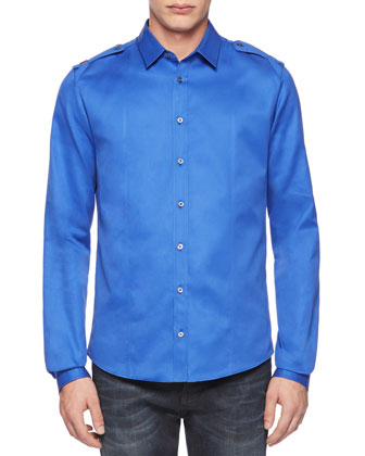 Twill Duke Shirt, Light Blue