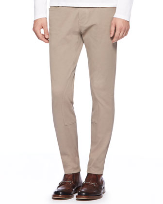 Stretch-Cotton Riding Pants, Tan