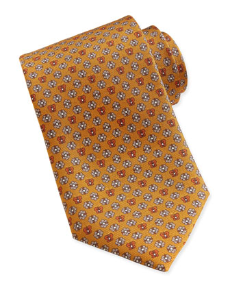 Butterfly/Flower Woven Tie, Yellow