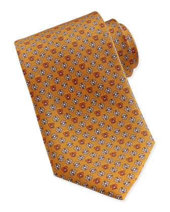 Butterfly/Flower Woven Tie, Yellow