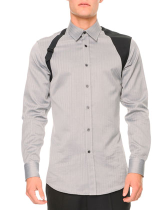 Tonal-Herringbone Harness Shirt