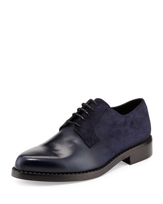 Miles Men's Suede Fadeout Derby, Navy